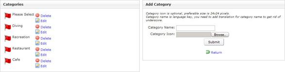 Admin categories editor